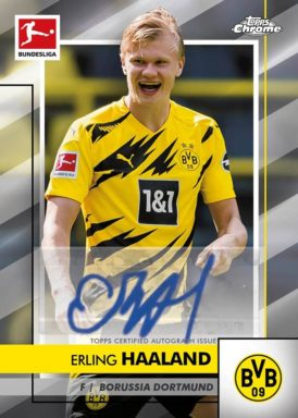 2020-21 TOPPS Chrome Bundesliga Soccer - Base Autograph Card