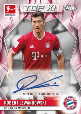 2020-21 TOPPS Chrome Bundesliga Soccer - TOP XI Autograph Card