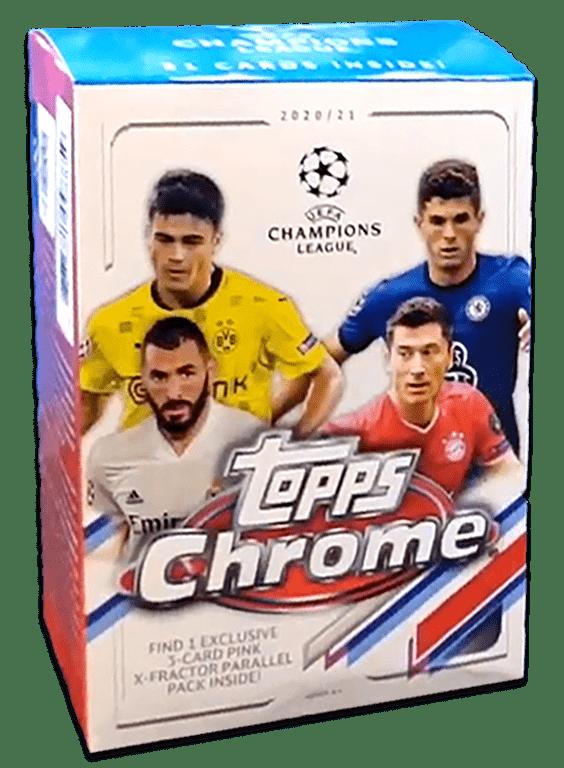 2020-21 TOPPS Chrome UEFA Champions League Soccer - Blaster Box