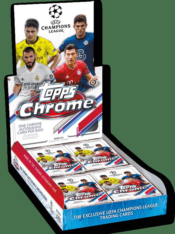 2020-21 TOPPS Chrome UEFA Champions League Soccer - Hobby Box