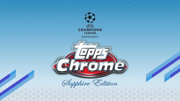 2020-21 TOPPS Chrome Sapphire Edition UEFA Champions League Soccer - Header