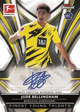 2020-21 TOPPS Finest Bundesliga Soccer - Finest Young Talents Autograph Card