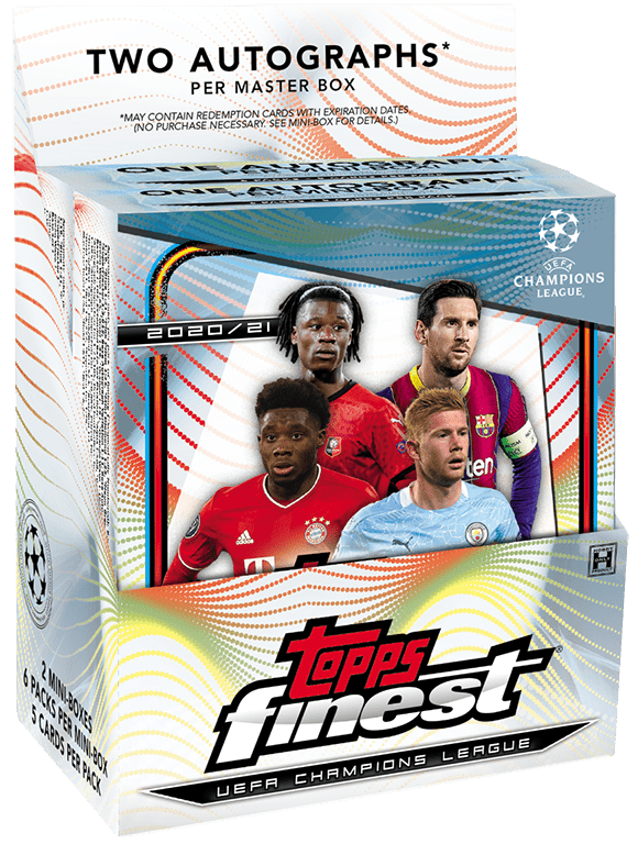 2020-21 TOPPS Finest UEFA Champions League Soccer - Master Box