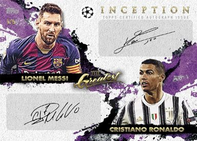 2020-21 TOPPS Inception UEFA Champions League Soccer - Dual Autograph Card