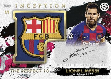 2020-21 TOPPS Inception UEFA Champions League Soccer - Patch Autograph Card