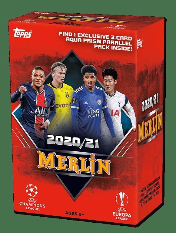 2020-21 TOPPS Merlin Chrome UEFA Champions League Soccer - Blaster Box