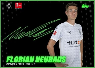 2020-21 TOPPS NFT Bundesliga Season Celebration - Team Color Top Goals Signature
