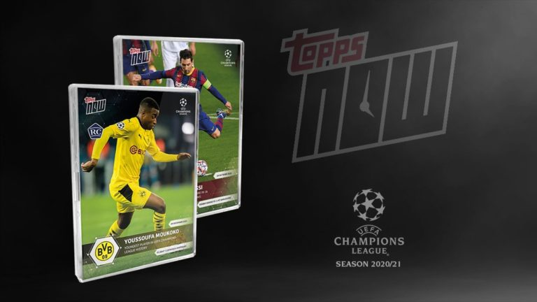 2020-21 Topps Now UEFA Champions League Trading Cards Header