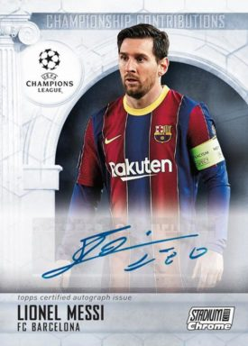 TOPPS Stadium Club Chrome UEFA Champions League Soccer - Championship Contributions Autograph