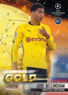 TOPPS Stadium Club Chrome UEFA Champions League Soccer - Glimpses of Gold Insert