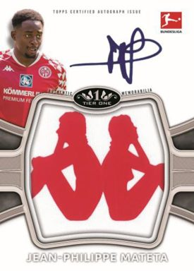 2020-21 TOPPS Tier One Bundesliga Soccer - Autograph Prodigious Patches Card