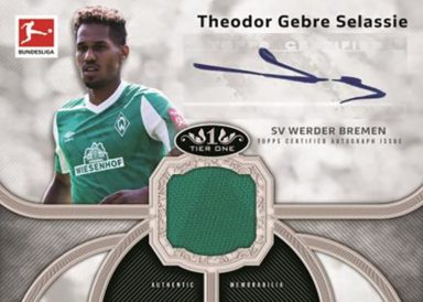 2020-21 TOPPS Tier One Bundesliga Soccer - Autograph Tier One Relic Card