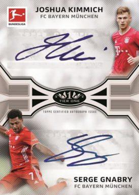 2020-21 TOPPS Tier One Bundesliga Soccer - Dual Autograph Card