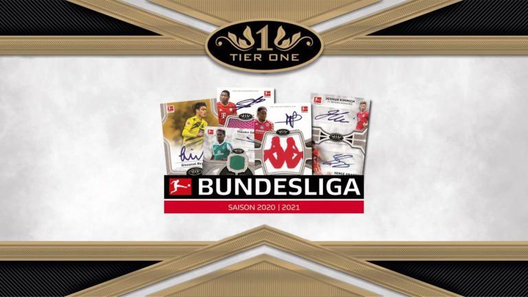 2020-21 TOPPS Tier One Bundesliga Soccer Cards