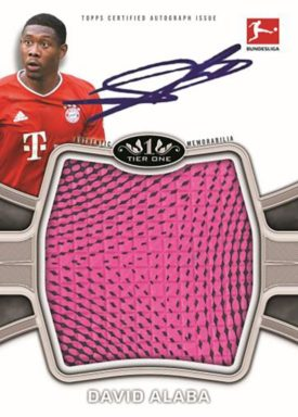 2020-21 TOPPS Tier One Bundesliga Soccer - Autograph Tier One Football Relic Card