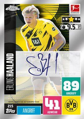 TOPPS Bundesliga Match Attax Chrome 2020/21 - Autograph Card