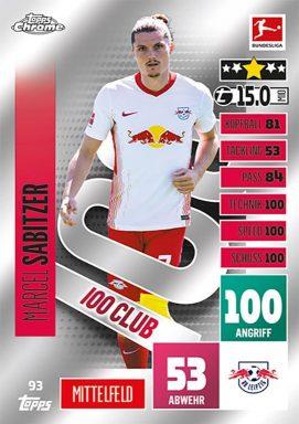 TOPPS Bundesliga Match Attax Chrome 2020/21 - 100 Club Card