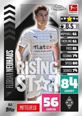 TOPPS Bundesliga Match Attax Chrome 2020/21 - Rising Star Card