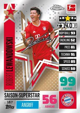 TOPPS Bundesliga Match Attax Chrome 2020/21 - Saison Superstar Card
