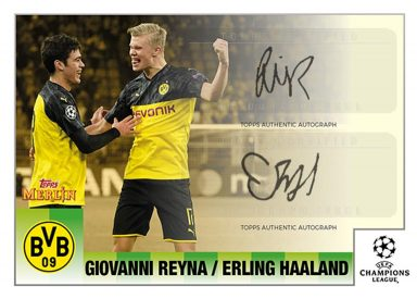 Topps Merlin 95 Heritage UEFA Champions League 2020/21 Soccer - Dual Autograph Card