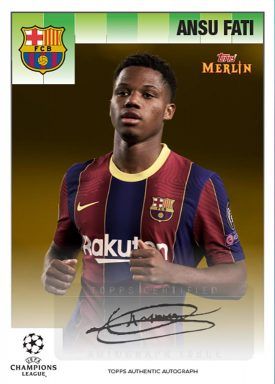 Topps Merlin 95 Heritage UEFA Champions League 2020/21 Soccer - Autograph Card