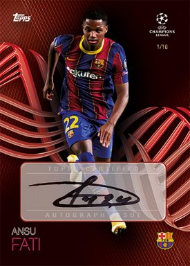 TOPPS On Demand UEFA Champions League 2020/21 Kockout Set - Autograph Card