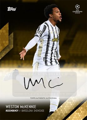 TOPPS What it takes - Weston McKennie Curated Set - Autograph Card