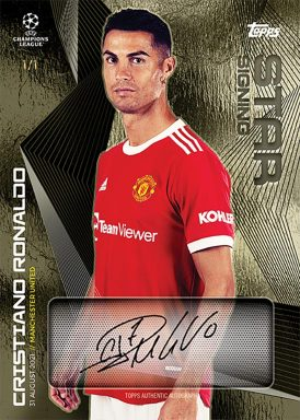 2021-22 TOPPS On Demand UEFA Champions League Summer Signings Set - Autograph Card
