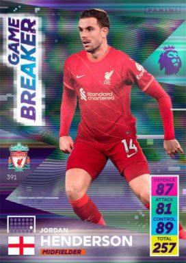 PANINI Premier League Adrenalyn XL 2021/22 - Game breaker card