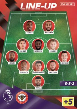 PANINI Premier League Adrenalyn XL 2021/22 - Line-up card