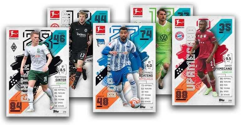 Topps Bundesliga Match Attax 2021/22 Trading Card Game - Base Cards