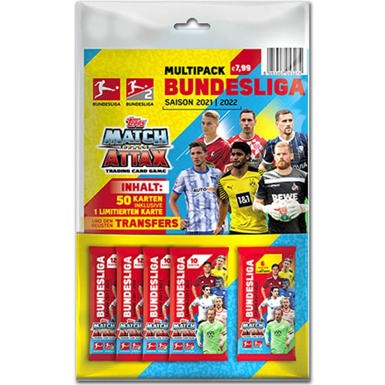 Topps Bundesliga Match Attax 2021/22 Trading Card Game - Transfer Multipack