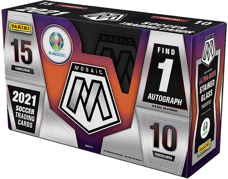 2021 PANINI Mosaic UEFA EURO 2020 Soccer Cards - Hobby Box