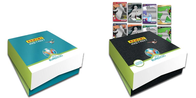 PANINI Instant UEFA Euro 2020 Soccer Cards - Collectors Box