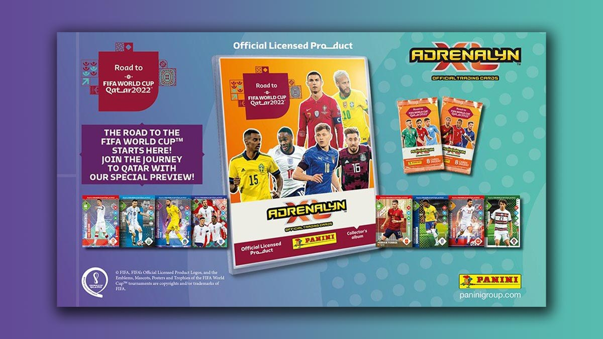 PANINI Road to FIFA World Cup Qatar 2022 Adrenalyn XL Trading Card Game - Header Preview