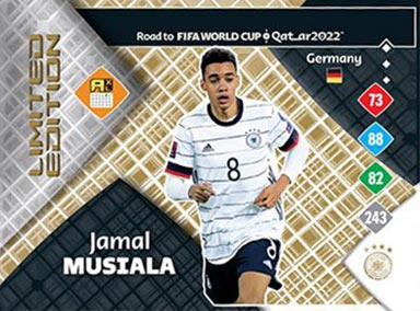 PANINI Road to FIFA World Cup Qatar 2022 Adrenalyn XL Trading Card Game - Standard Limited Edition Card