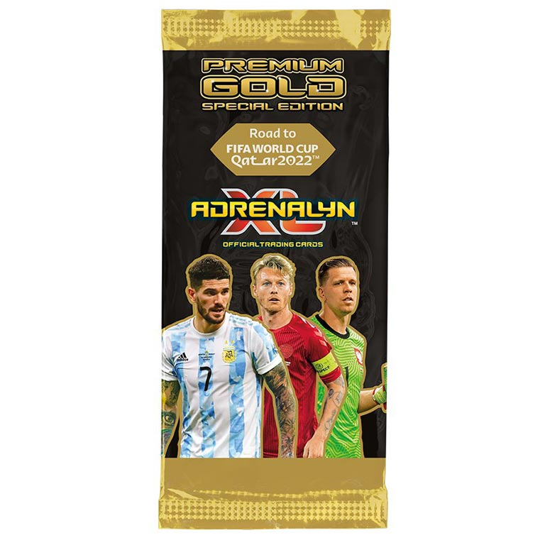 PANINI Road to FIFA World Cup Qatar 2022 Adrenalyn XL Trading Card Game - Premium Gold Booster Pack