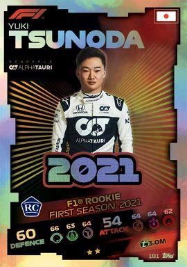 TOPPS F1 Turbo Attax 2021 - Formula 1 Rookie Card