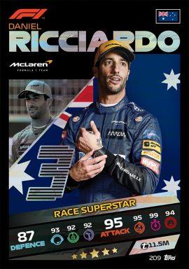 TOPPS F1 Turbo Attax 2021 - Race Superstar Card